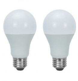 2 x 10W (75W) LED E27 Bayonet Cap Standard Light Bulb, Frosted - Cool White